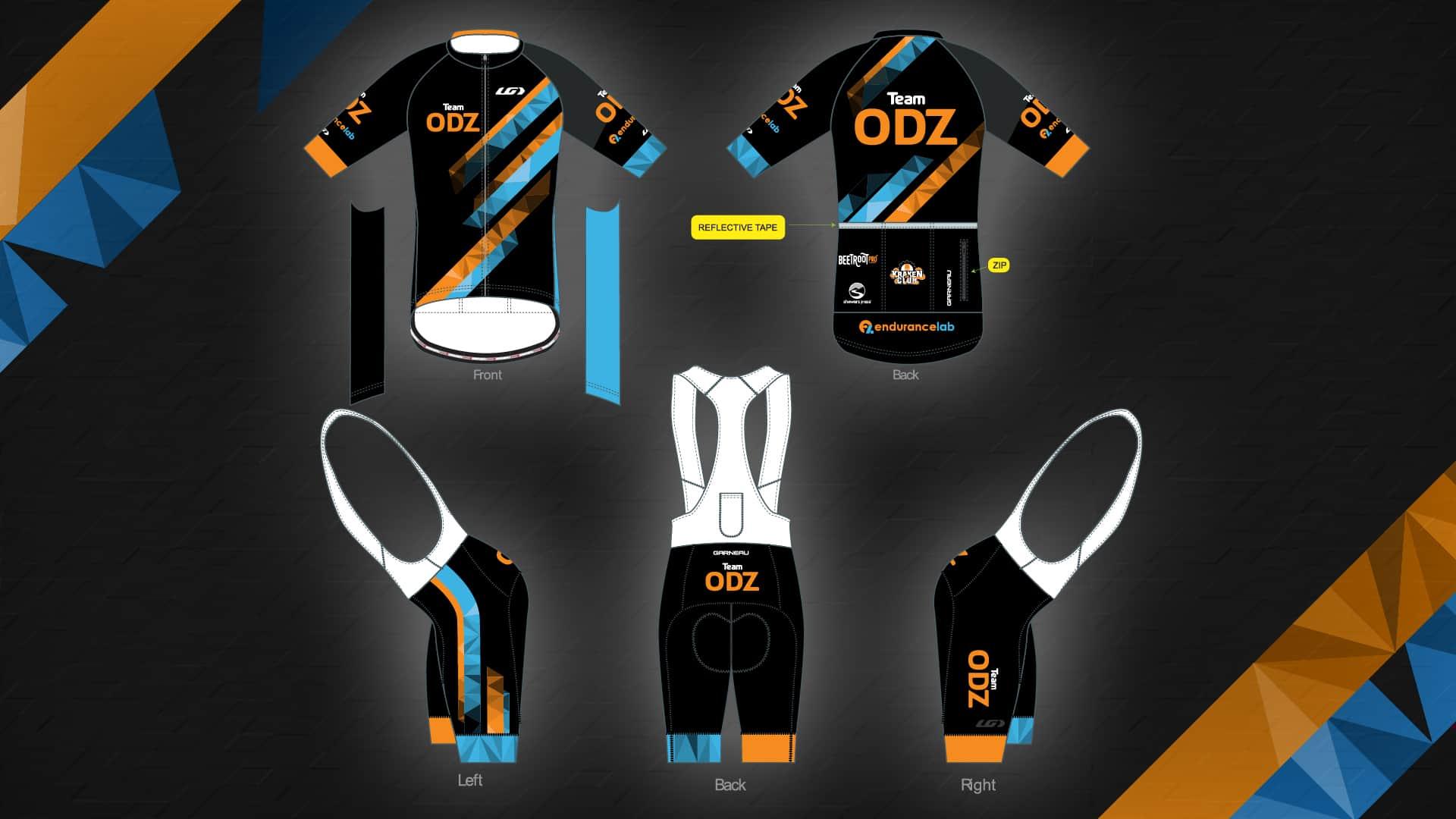 Final ODZ cycling kit layout, all views