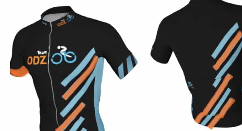 Mokckup of cycling jersey